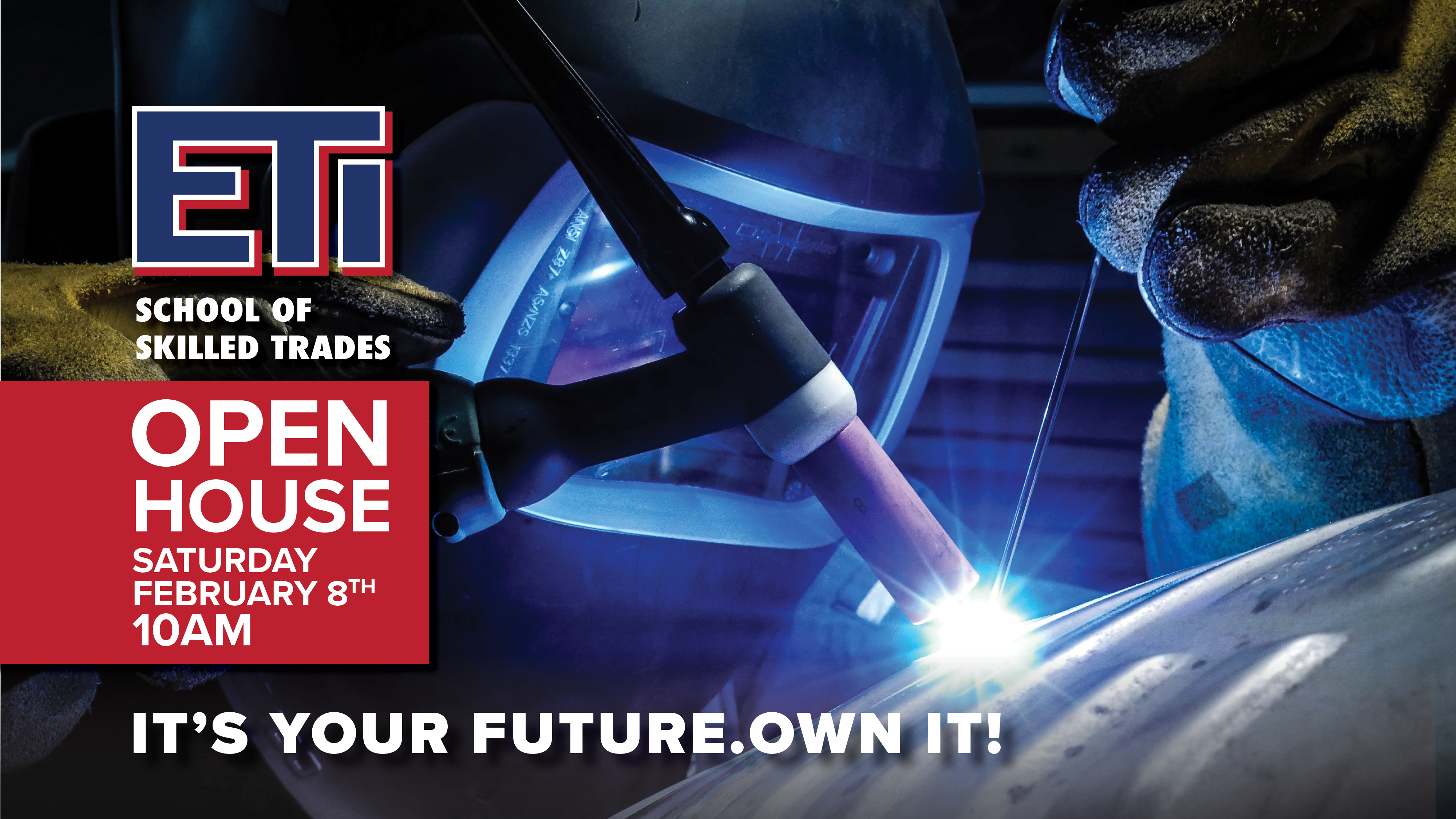 Join ETI School of Skilled Trades for their Open House on February 8th, 2020 at 10am