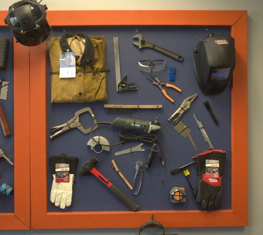 Welding Tools Photo. Learn about the tools ETI School of Skilled Trades provides all welding students!